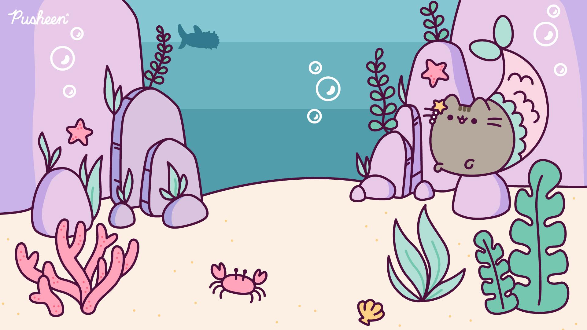 Pusheen_Zoom_Background_Mermaid_2020